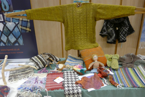 Denise's gansey and other items made by Guild members